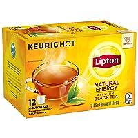 Lipton K-Cups for Keurig Brewers Natural Energy Black Tea 100% Rainforest Alliance Certified 12 K-Cups pods