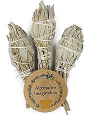 Alternative Imagination Premium California White Sage 4 Inch Smudge Sticks Brand.