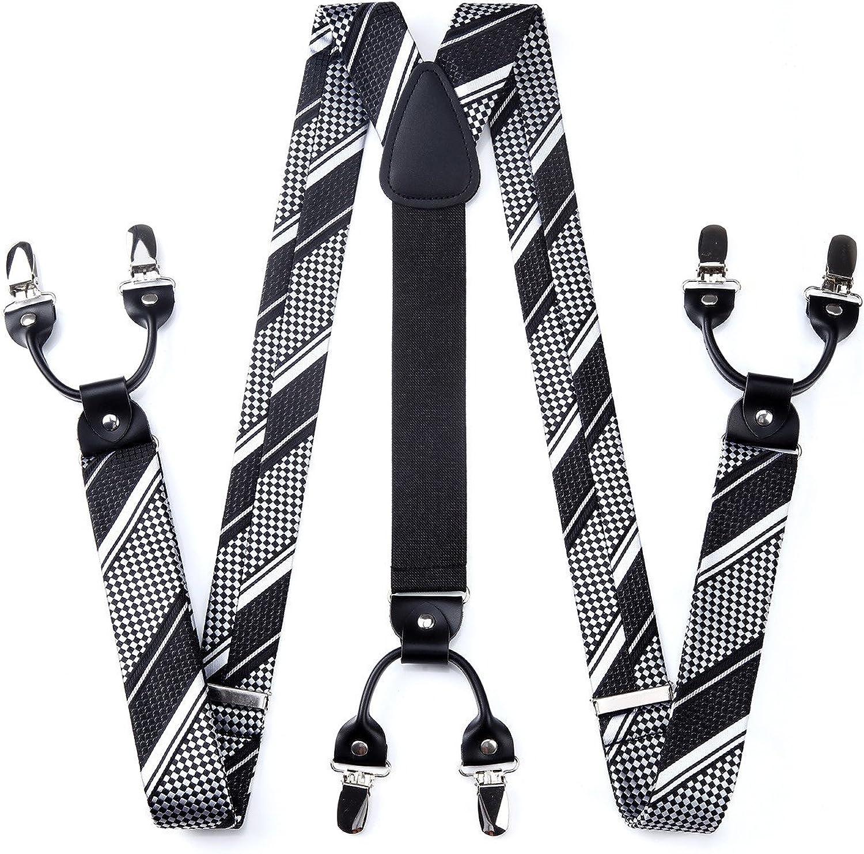 HISDERN Varios Clasico 6 Clips Suspendedor & Corbata de mono ...