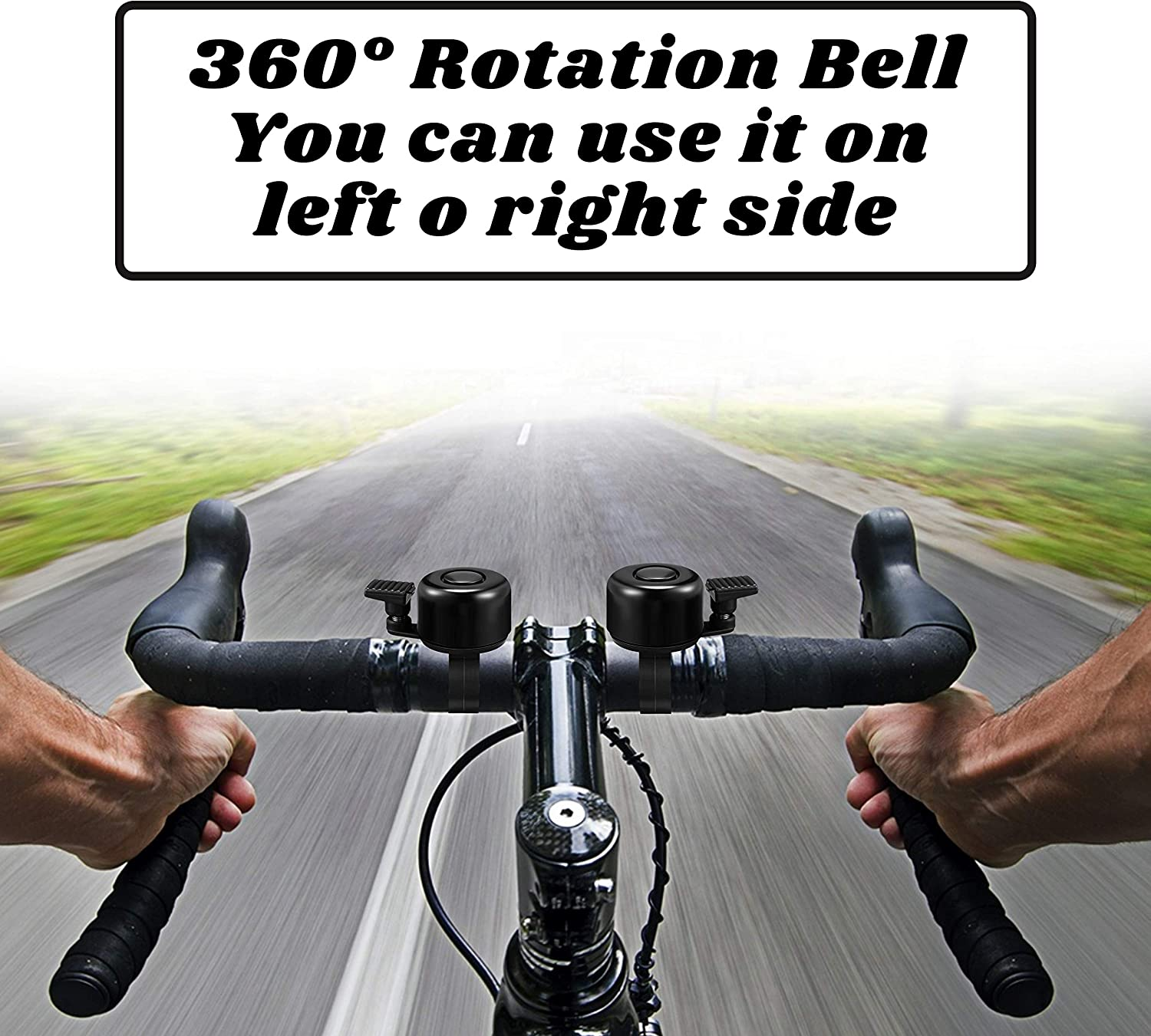 Terra Connect Bike Bell Bicycle Bell Loud Crisp Clear Sound Road and Mountain