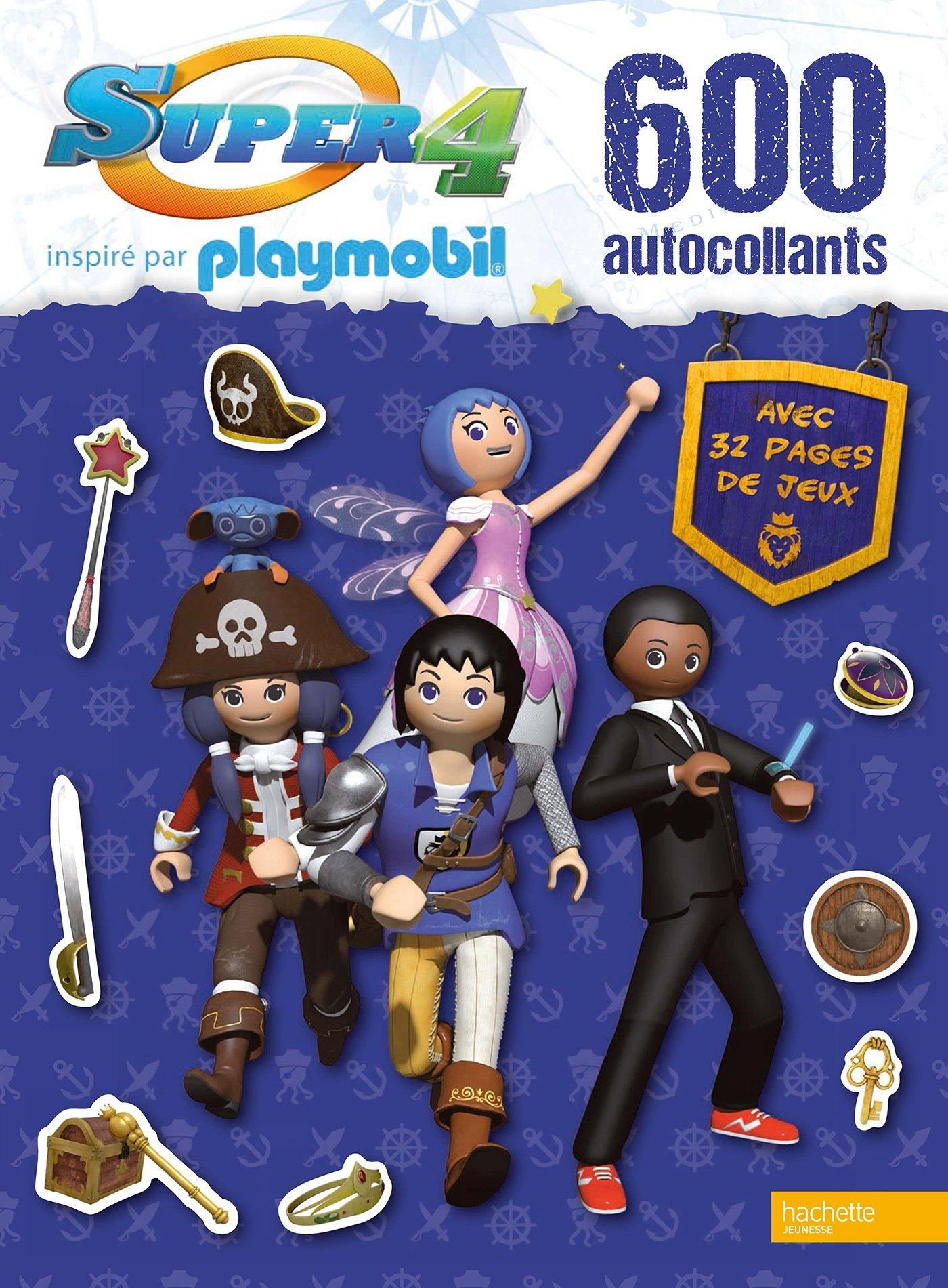 Super 4 Playmobil : 600 autocollants