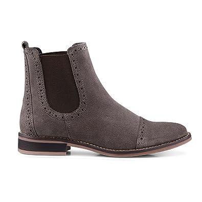the best attitude 4d12a 62b81 DRIEVHOLT Damen Damen Chelsea-Boots aus Leder, Stiefelette ...
