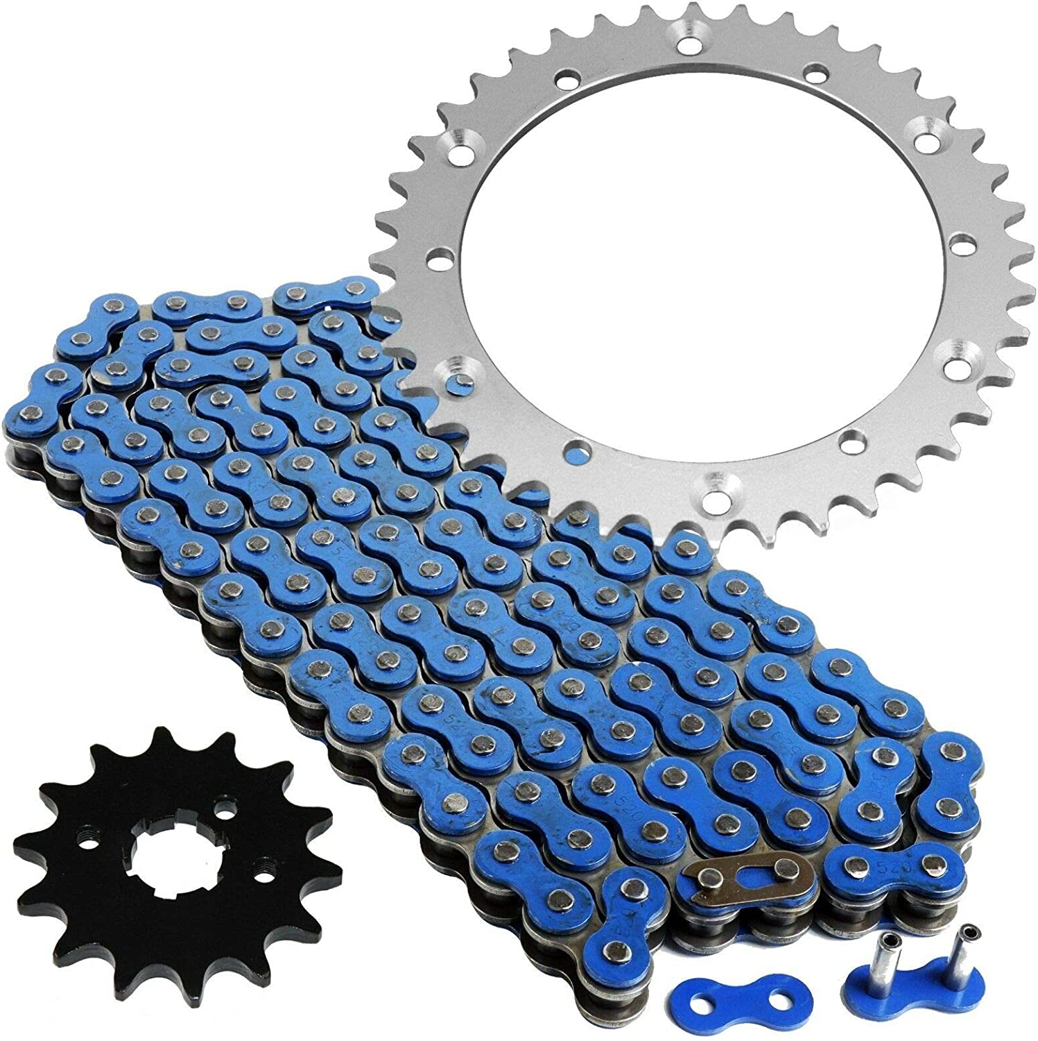 Caltric Blue Drive Chain And Sprockets Kit for Yamaha Banshee 350 Yfz350 1989-2006