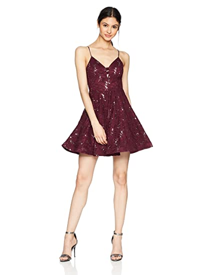 Speechless Womens Allover Sequin Lace Prom Dress: Amazon.co.uk: Clothing