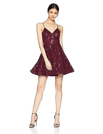 7d93a2f3d Amazon.com: Speechless Women's Allover Sequin Lace Dress (Junior's ...