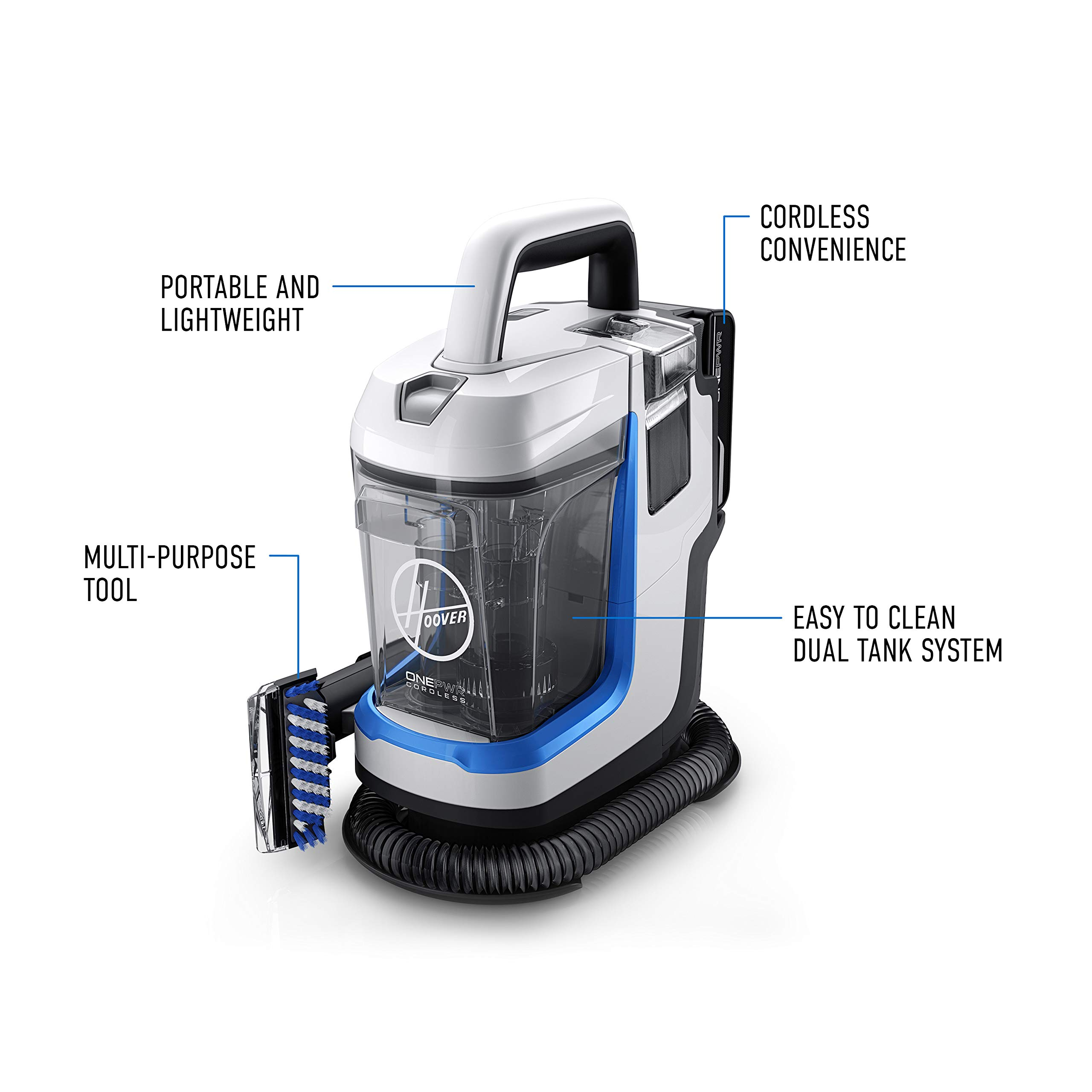 Hoover ONEPWR Spotless GO Cordless Carpet and Upholstery Cleaner, Portable, Lightweight, BH12001, White by Hoover (Image #7)