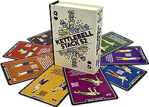 Stack 52 tarjetas de ejercicio Kettlebell.: Amazon.es: Deportes y aire libre