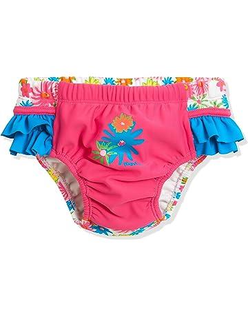 177227bdb Playshoes Badewindel Blumenmeer Mit UV-Schutz pañal de natación para Bebés