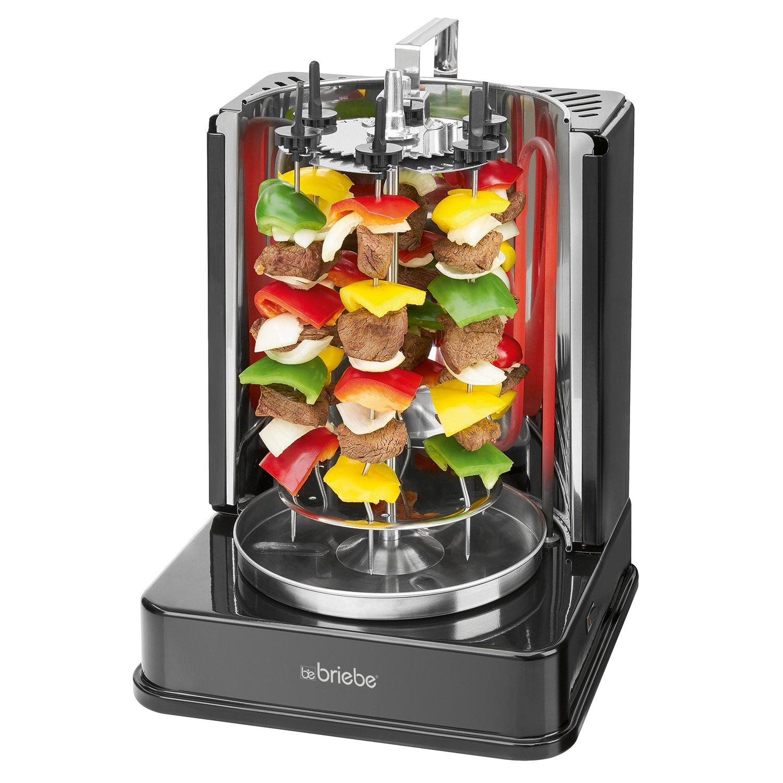 Asador Vertical giratorio electrico de Pollo, Doner Kebab, Brochetas, bandeja recoje grasa, acero inoxidable, grill 1400W: Amazon.es: Hogar