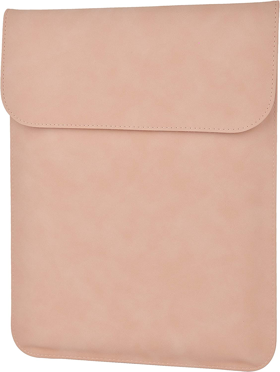 LuvCase Laptop Suede Leather Flap Envelope Sleeve Pouch Case Compatible MacBook Pro 15-16 Inch, A2141/A1707/A1990/A1398/A1286, Chromebook, Acer, Thinkpad HP Notebook (Pink Magnetic Sleeve (Vertical))