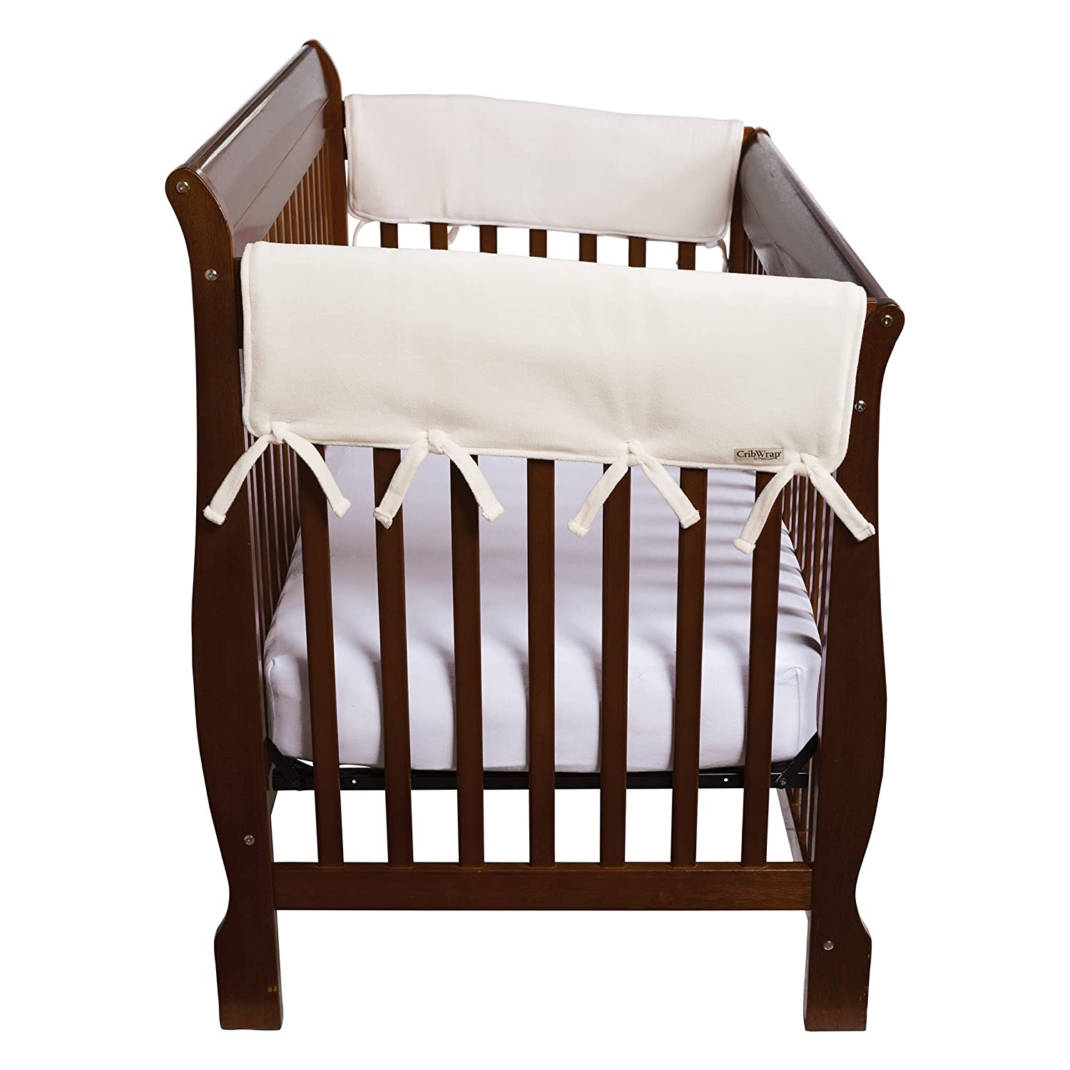 Gray Trend Lab Gray Fleece CribWrap Wide Rail Cover for Crib Sides