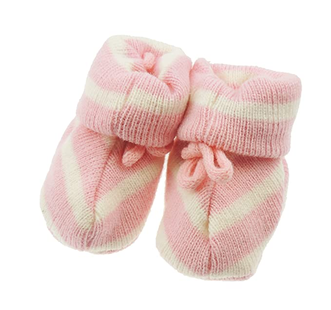 Bebé Niños Niñas Calcetines de rayas cordón patucos recién nacido ...
