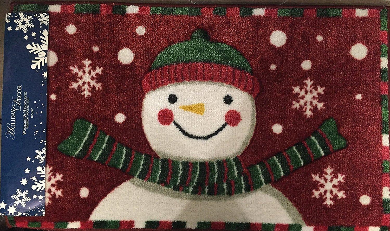 Nourison Accent Decor Snowflake Snowman Red Accent Rug AX-AY-ABHI-101035