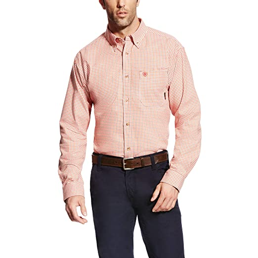 Amazon com: ARIAT FR Logan Work Shirt: Clothing