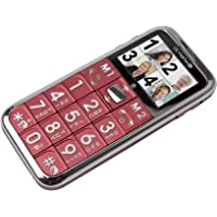 Olympia Chic II - Teléfono móvil (MicroSD (TransFlash), Dual SIM, GSM, 850, 900, 1800, 1900 MHz, Polifónico, Ión de litio) Rojo