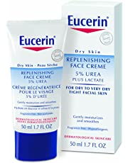 EUCERIN UREA REPAIR Replenishing Face Day Cream with 5% Urea for 48H Dry Skin Relief, 50 mL tube