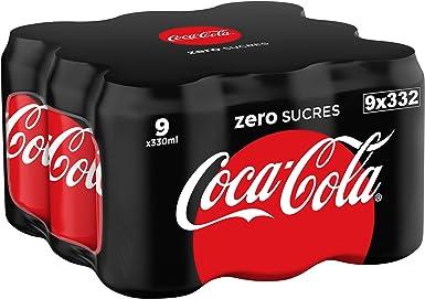 Coca-Cola - Zero, Lata 330 ml (Pack de 9): Amazon.es: Alimentación y bebidas