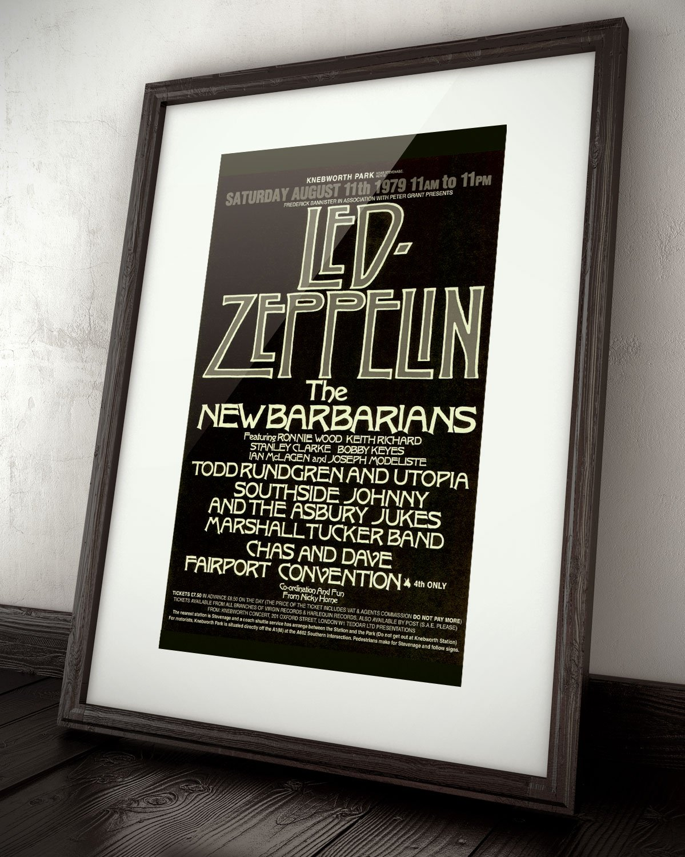 Amazon.com: Led Zeppelin The New Barbarians Live 1979 Retro Art ...