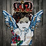 mbroidery Sequins Fashion Crown Angel Fabric Back Patches Wing Crown Motif  Applique for Clothes Decorated DIY abec2a9b3199