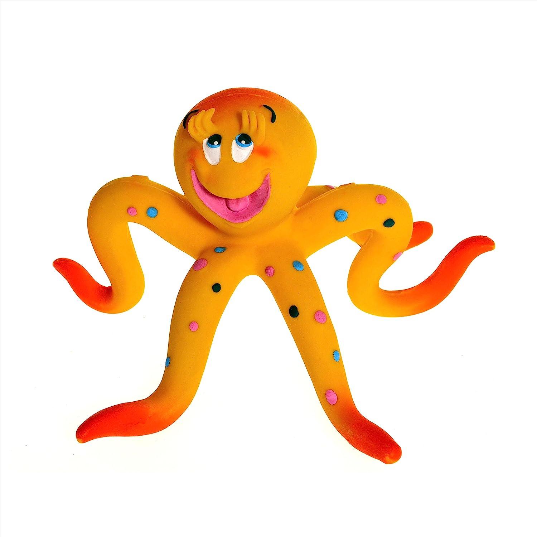 Naturkautschuk Kleinkindspielzeug Badewannespielzeug OLLIE der Tintenfisch Lanco 1413