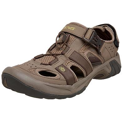 Teva Men's Omnium Closed Toe Sandal,Chocolate Chip,9.5 M