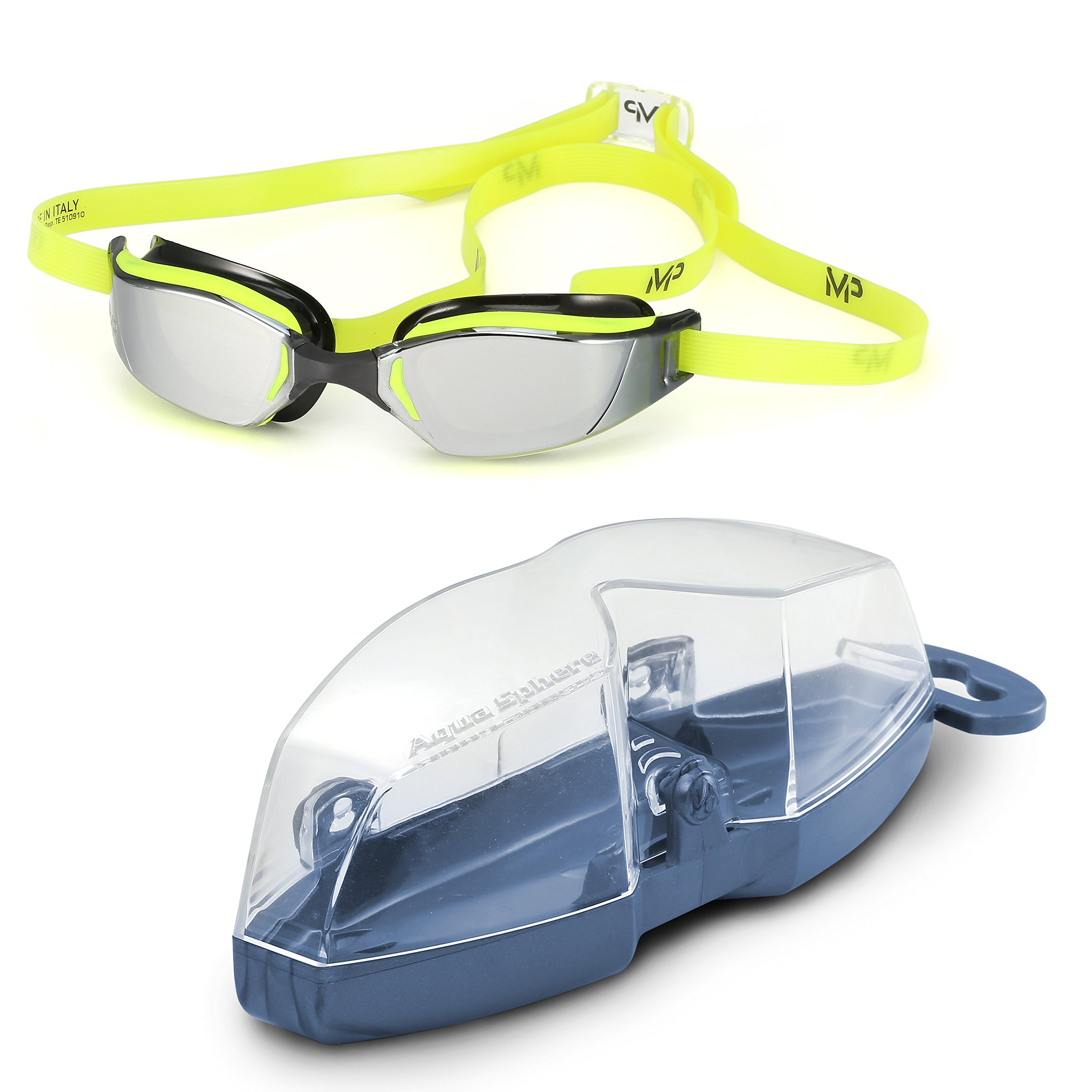 MP Michael Phelps XCEED Swimming Goggles, Mirrored Lens, Yellow/Black Frame by MP Michael Phelps (Image #7)