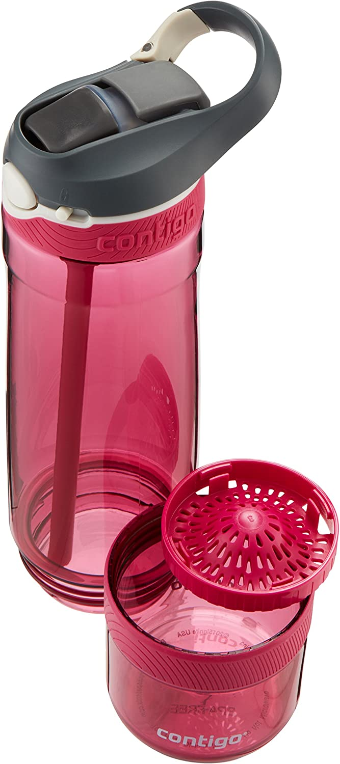 Contigo AUTOSPOUT Straw Ashland Water Bottle with Infuser 26 oz. Very Berry