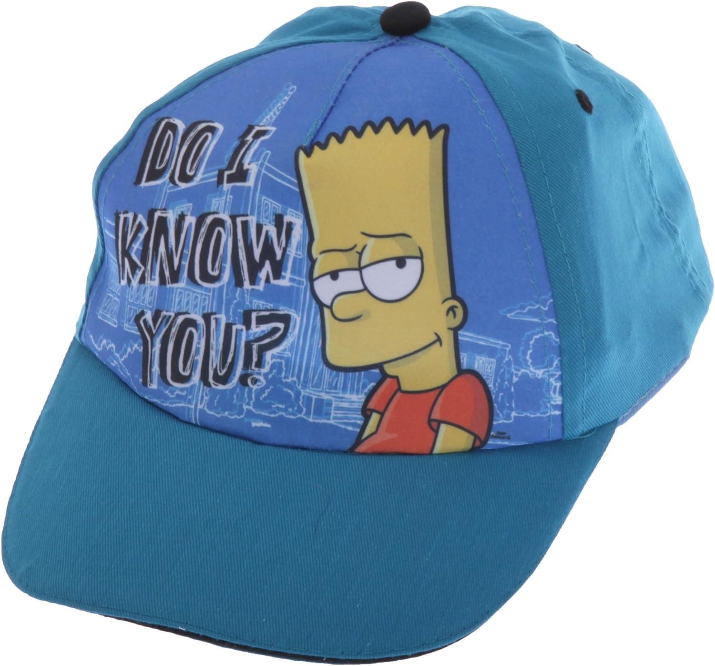 Gorra de Bart Simpson para niños - Verano (4-7 Años (54cm)/Azul ...