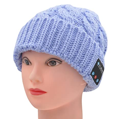 7bae0bfc716 FULLLIGHT TECH Winter Comfy Bluetooth Beanie Hat Headphones With Speakers    Mic Hands Free Washable Outdoor