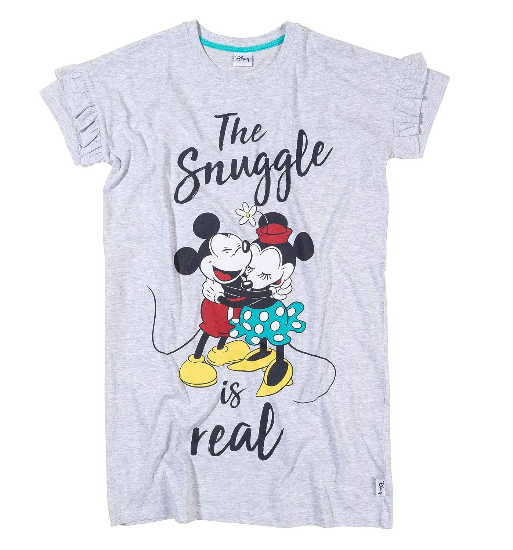 Womens Ladies Short Sleeve Jersey Minnie /& Eeyore Nightdress Night Shirt Nightshirt Nighties