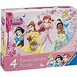 Disney Princess - Maleta con 4 puzzles (Ravensburger 07267 5)