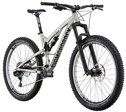 "7b40ab0f429 Diamondback Bicycles Catch 1 Full Suspension 27.5 Plus Mountain Bike,  Silver, 19""/"