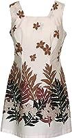 Robert J. Clancey Women's Plumeria Fern Cotton a Line Short Tank Dress