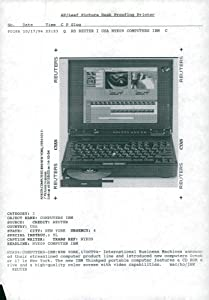 Vintage photo of laptop computer ibm