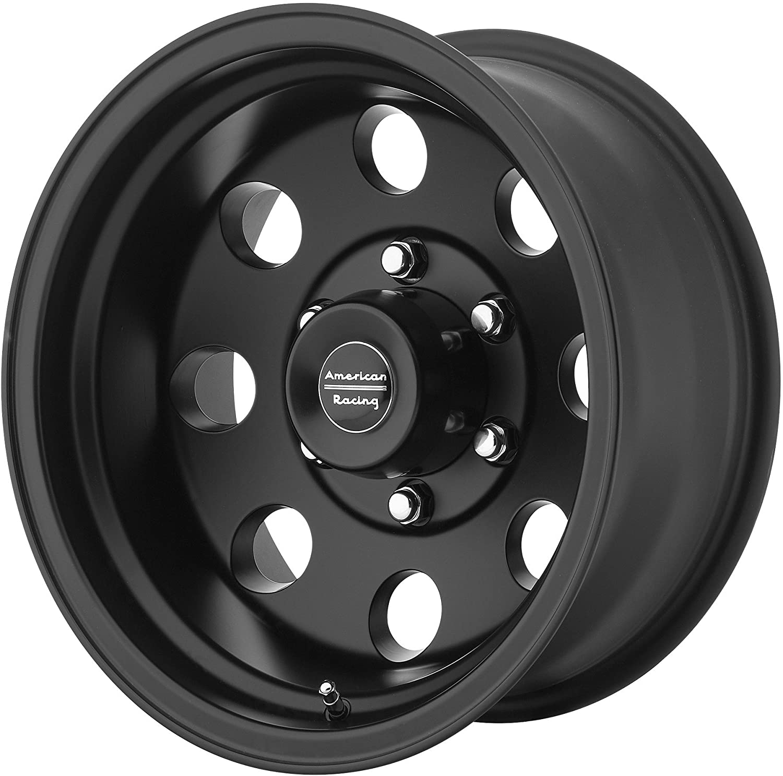 15x7//5x120.7mm, -6mm offset American Racing AR172 Baja Satin Black Wheel