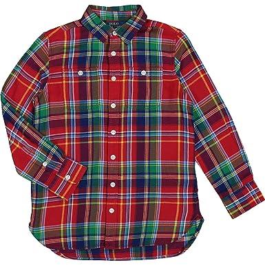1e070849e Polo Ralph Lauren Checkered Long Sleeve Shirt (10 Years)  Amazon.co.uk   Clothing