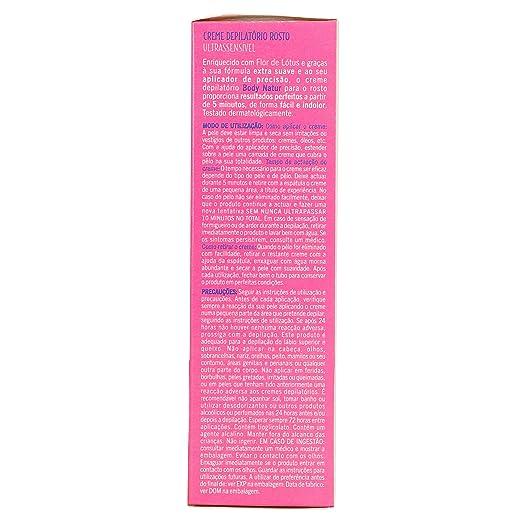 Body natur aplicador crema depilatorio rostro flor de loto: Amazon.es: Belleza