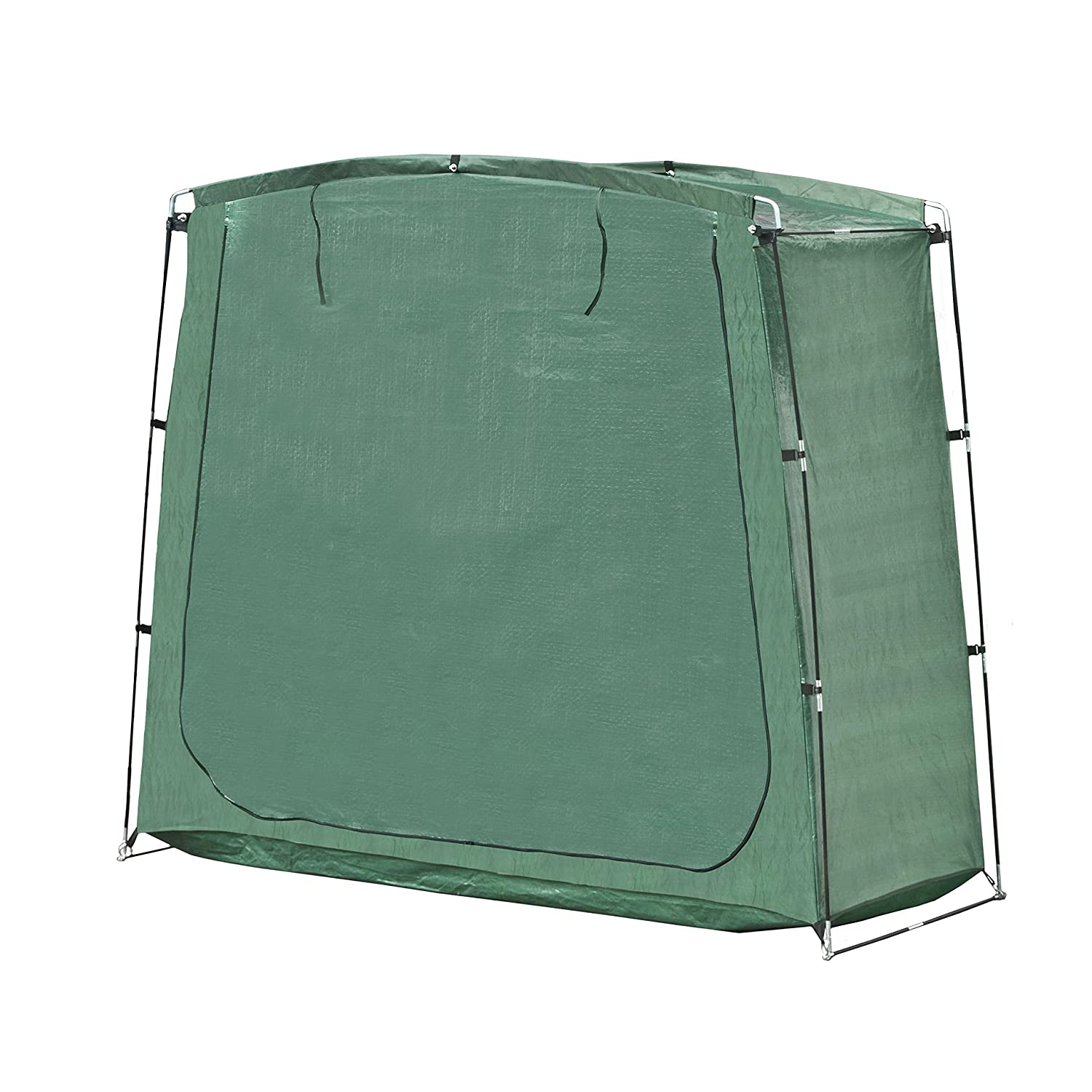 ALEKO® SS70GR PE 64 Inch Tall Rectangular Space Saving Outdoor Bike Storage Tent, Green Color