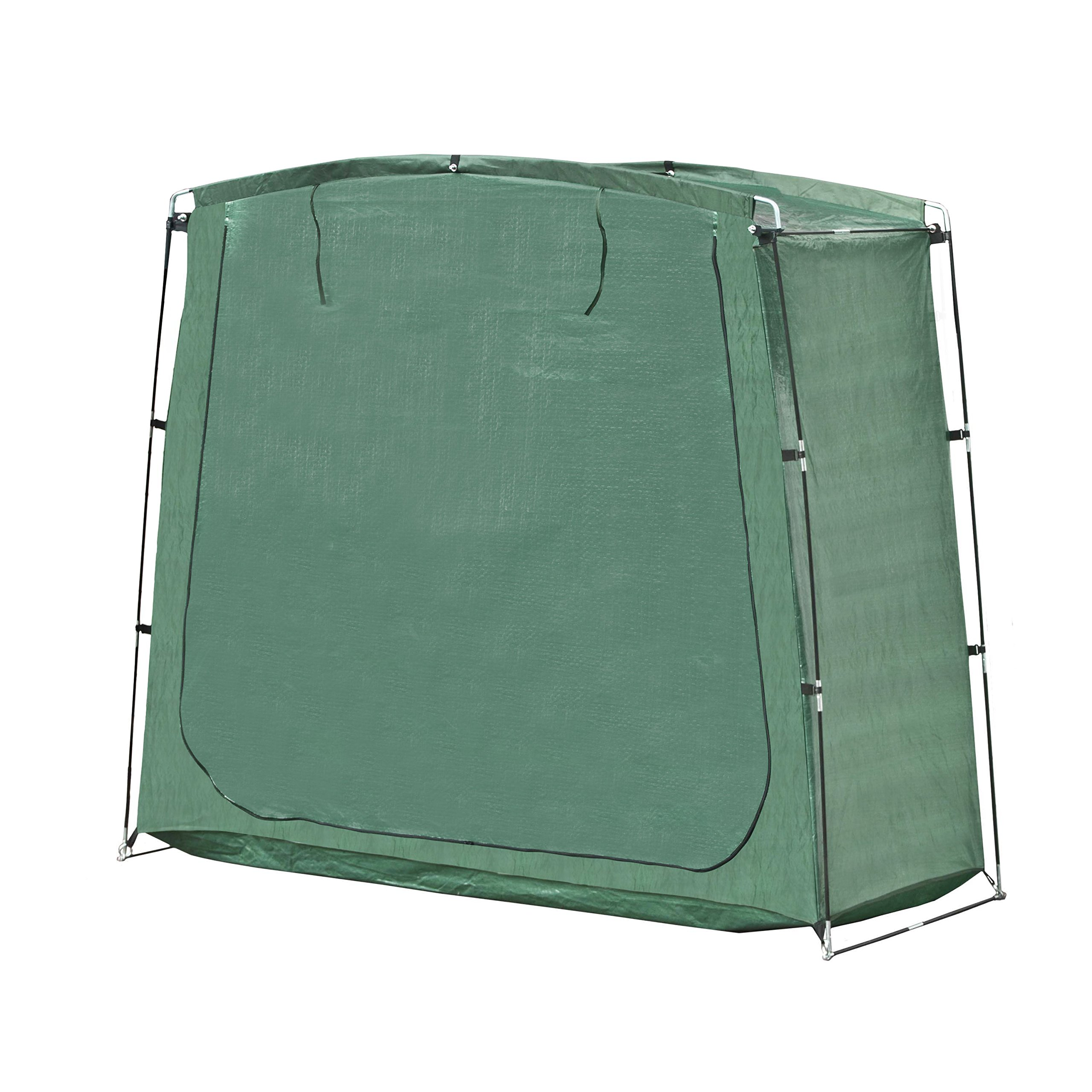 ALEKO SS70GR Portable Pop Up Bike Tent Bicycle Storage Shed Weather Resistant Protection Outdoor with Carrying Case 70 X 64 X 30 Inches Green