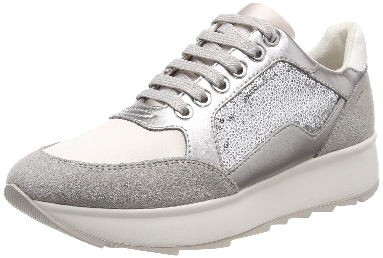 Geox D Gendry B, Zapatillas para Mujer 36 EU|Plateado (Lt Silver/Silver)