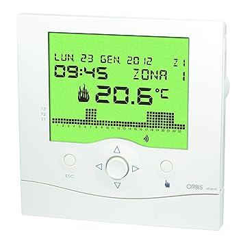 Orbis Athena Blanco Reloj de termostato, OB324200: Amazon.es: Bricolaje y herramientas