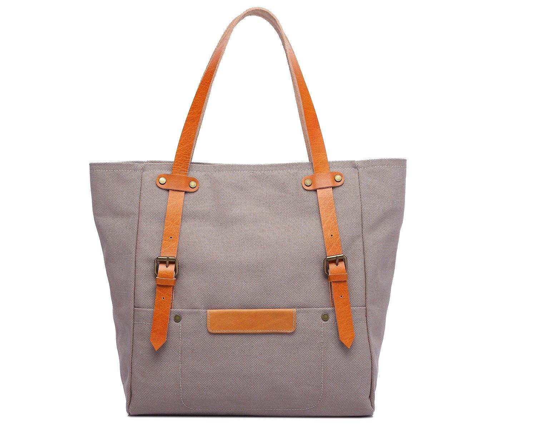 8e79cdb924b90 Damen-Tragetasche aus Baumwolle Cross Leder Multi-Side-Schultertasche  Messenger Bag (Farbe (Farbe (Farbe Beige