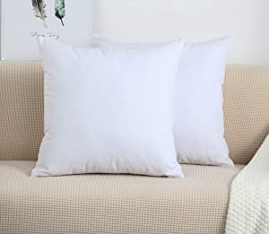 "TangDepot Handmade Decorative Solid 100% Cotton Canvas Throw Pillow Covers/Pillow Shams, (26""x26"", White)"
