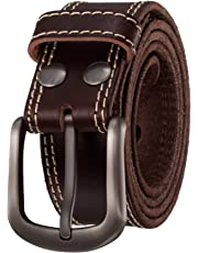 KEEPBLANCE Men's Classic Casual Jean Style Strong Built Genuine Leather Belt Gift Box