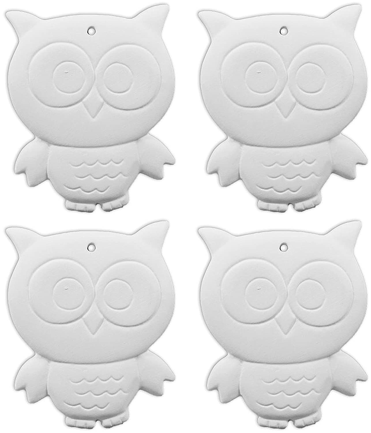 The Adorable Owl Ornament - Set of 4 - Paint Your Own Ceramic Keepsake New Hampshire Craftworks