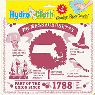 product image for Fiddler's Elbow My Massachusetts Hydro Cloth | Eco-Friendly Sponge Cloths | Reusable Swedish Dish Cloths | Set of 2 Printed Sponge Cloths | Replaces 30 Rolls of Paper Towels