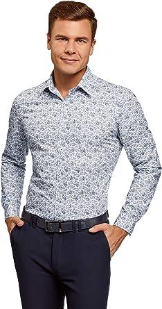 oodji Ultra Hombre Camisa Estampado Paisley: Amazon.es: Ropa y accesorios