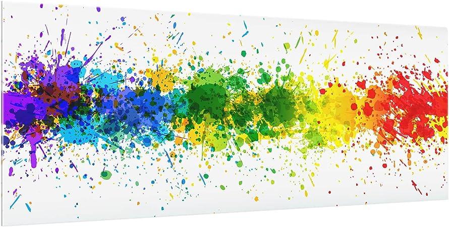 lila protecci/ón para azulejos cristal decorativo espejo de cocina 80 x 40 cm orqu/ídea protecci/ón contra salpicaduras decorwelt Panel protector contra salpicaduras de cristal para cocina