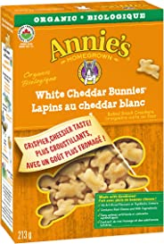 Annie's Homegrown Organic White Cheddar Bunnies Baked Snack Crackers, 213 Grams