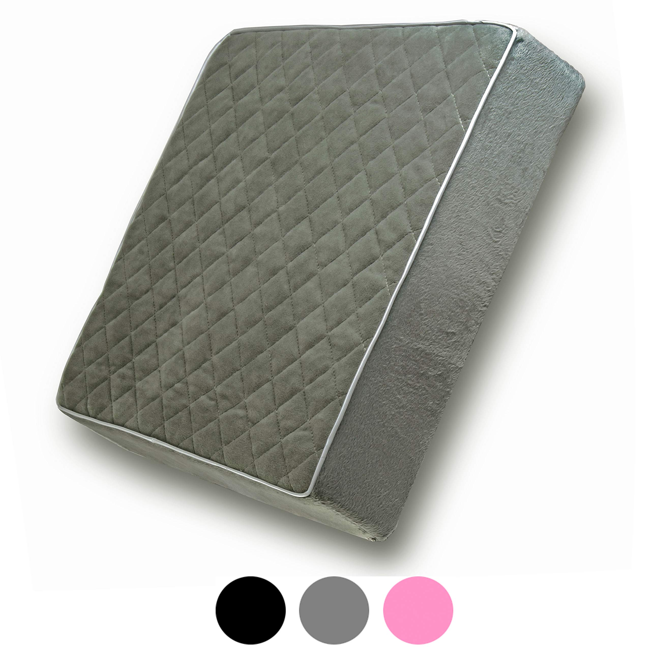 Comfortanza Chair Seat Cushion | 16x16x3 Square Thick Foam Pads for Wooden Kitchen, Dining Chairs, Office & Car Seat | Comfort & Back Pain Relief | Gray